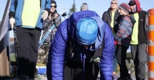 Christiane Plamondon à son 100ème km